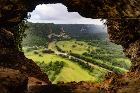 Window Cave. This is a cave whose end opens into the side of a mountain, where you can see the valley below.