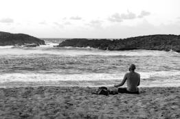 Yoga meditation at Chiquita Sea Beach