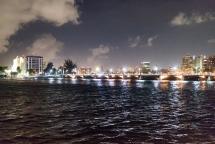 View of San Juan at night.
