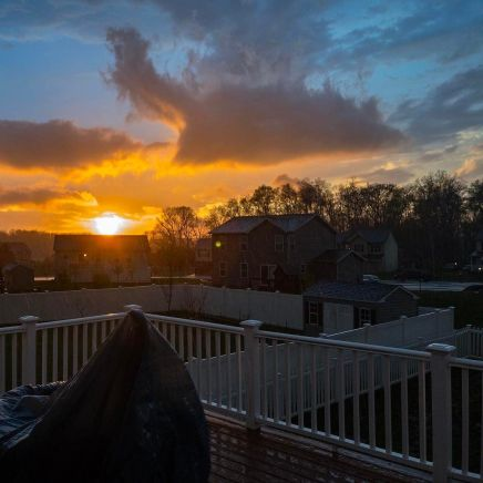The view out back right now. #weather #sunset #Pennsylvania